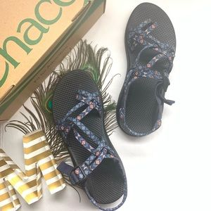 SOLD Chacos - ZX/2 - Blue and Orange Sandals*